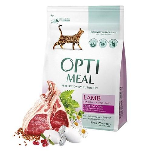 OPTI MEAL Корм для кошек с чувствительным пищеварением C ягненком