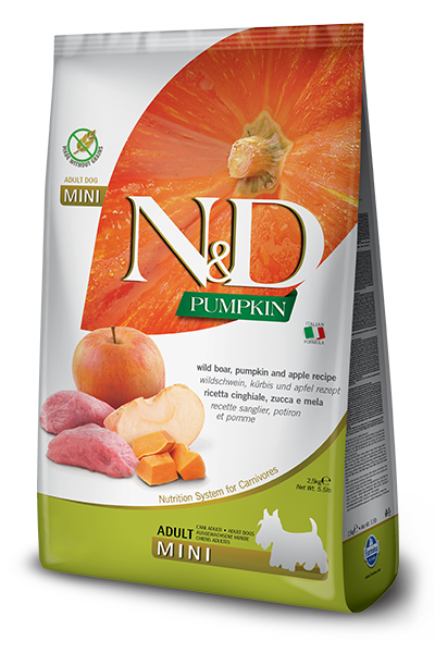 N&D Pumpkin Boar&Apple Adult Mini Кабан, тыква, яблоко.