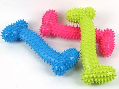 """Игрушка резиновая """"Кость"""", 15,5см, разные цвета"""