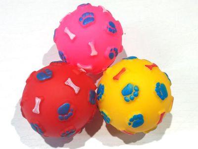 Мяч винил с пищалкой, 7cm, разные цвета