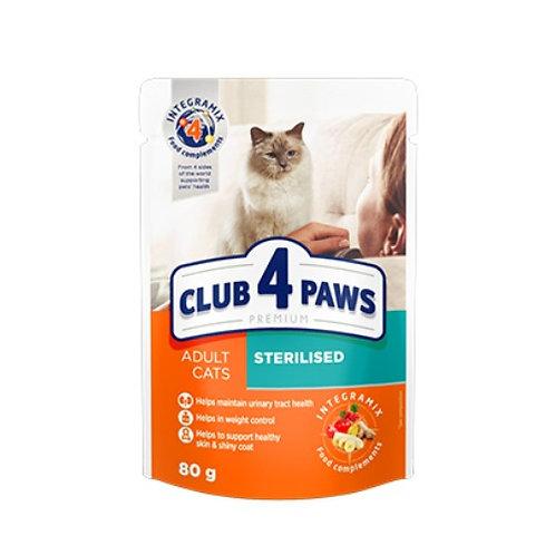 CLUB 4 PAWS PREMIUM для взрослых кошек Стерилизованные