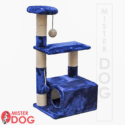 Игровой комплекс для кошек с тремя площадками и домиком, 90см