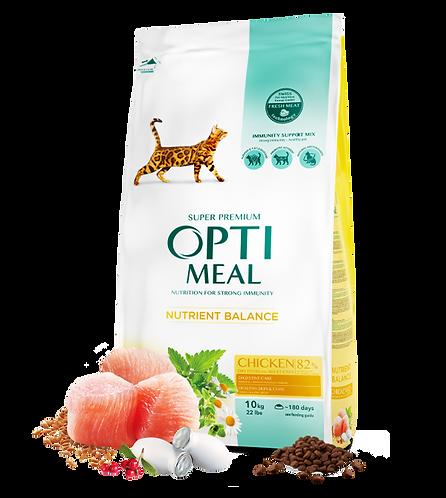 OPTI MEAL Корм для взрослых котов Курица