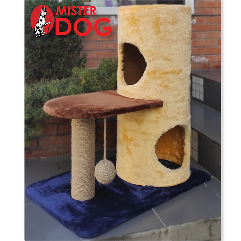Игровой комплекс для кошек с площадкой, высота 80 см