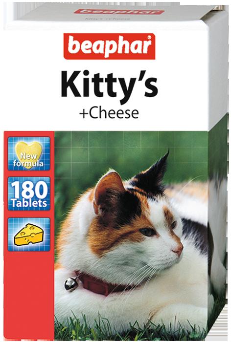 Кормовая добавка Kitty's + Cheese для кошек 75 таб.