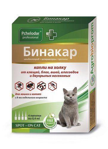 Бинакар для кошек, 1 пипетка