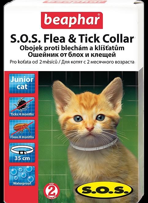 Ошейник S.O.S. от блох и клещей для котят