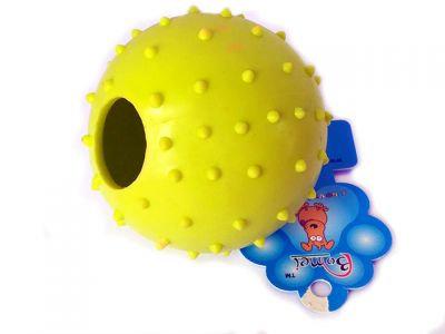 """Игрушка """"Мяч"""" 8см, большой с отверстием для корма"""