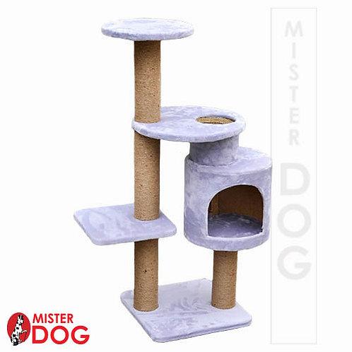 Многоуровневый игровой комплекс для кошек с домиком, 110см
