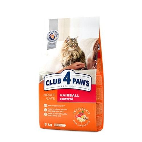 CLUB 4 PAWS Premium для взрослых кошек С ЭФФЕКТОМ ВЫВЕДЕНИЯ ШЕРСТИ