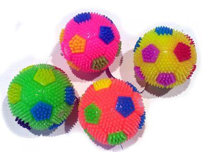 Мячик футбол,  с пищалкой светящийся, 6.5cm,  разные цвета