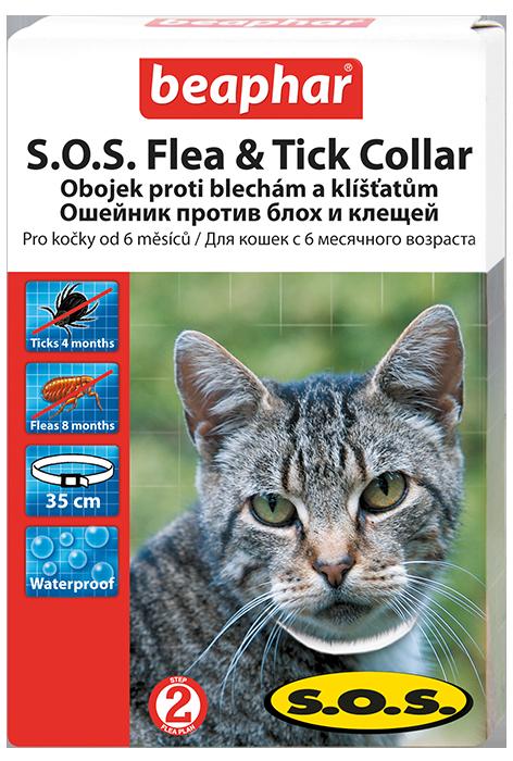 Ошейник S.O.S. от блох и клещей для кошек