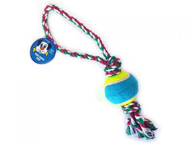 Веревочная игрушка, 6cm * 40см,  с одним мячом, 143 г