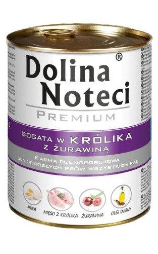 DOLINA NOTECI PREMIUM С КРОЛИКОМ И КЛЮКВОЙ 800г