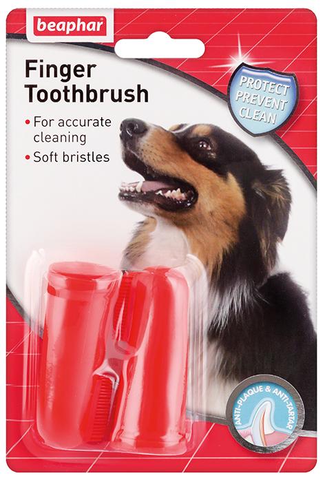 Зубная щетка  на палец для собак