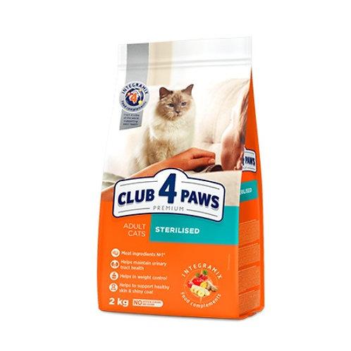 CLUB 4 PAWS Premium для взрослых кошек СТЕРИЛИЗОВАНЫЕ