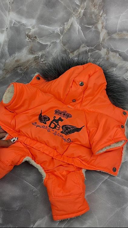 Зимний комбинезон на меху, цвет Оранж.