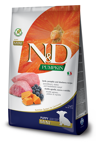 N&D DOG PUMPKIN LAMB & BLUEBERRY PUPPY MINI Ягненок, тыква, черника 2.5кг
