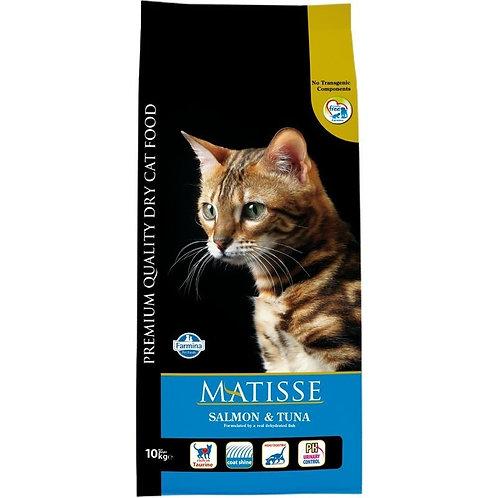 Matisse Salmon&Tuna Сбалансированный корм для взрослых кошек 1 кг, 10 кг