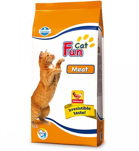 Fun Cat Meat Полноценный и сбалансированный корм для взрослых кошек. 20кг