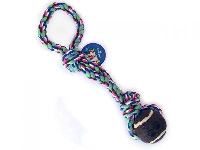 Веревочная игрушка, 6cm * 35см,  с одним мячом, 209 г
