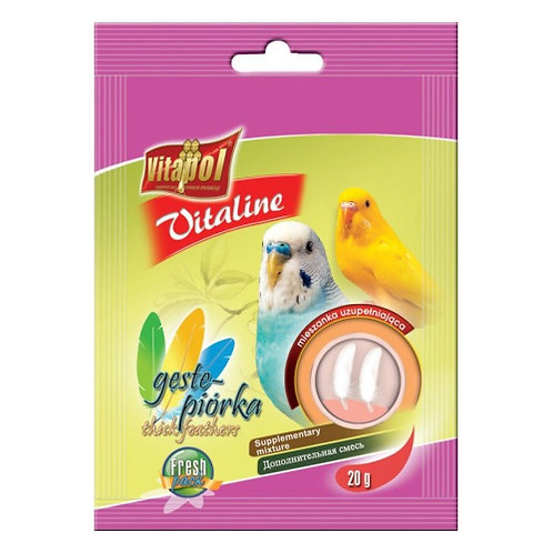 Vitapol VITALINE для волнистых попугаев густые перья дополнительная смесь