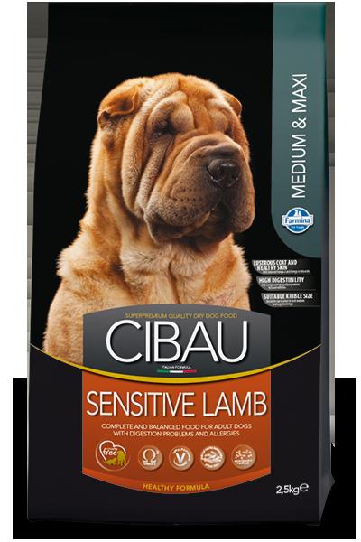 CIBAU SENSITIV LAMB  MEDIUM&MAXI Для взрослых собак Ягненок 12кг