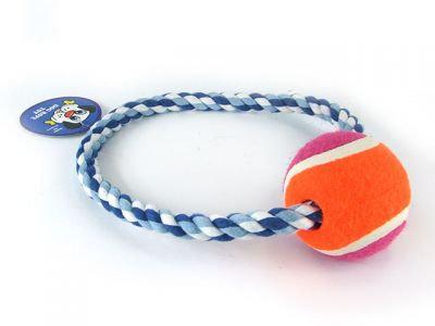 Веревочная игрушка с мячом