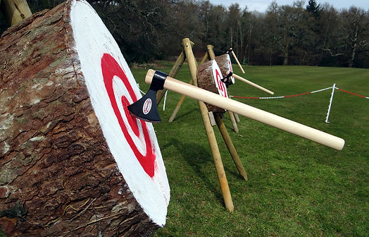 Axe throwing in cornwall.