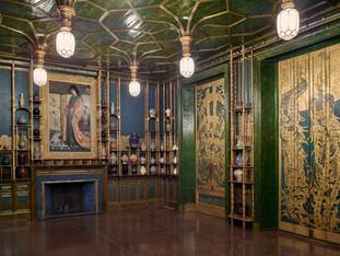 Filthy Lucre: Peacock Room de James Abbott réinventée. Victoria and Albert Museum.