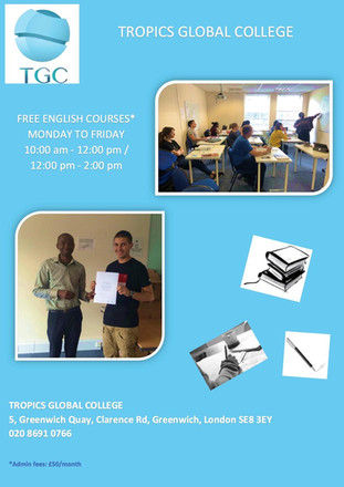 Cours d'anglais. Tropics Global Collège.