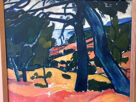 """Un tableau d'André Derain, """"Pinède, Cassis"""" restitué à ses propriétaires le 27 janvier 2021."""