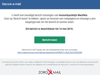Gebruik van ZorgMail Secure email
