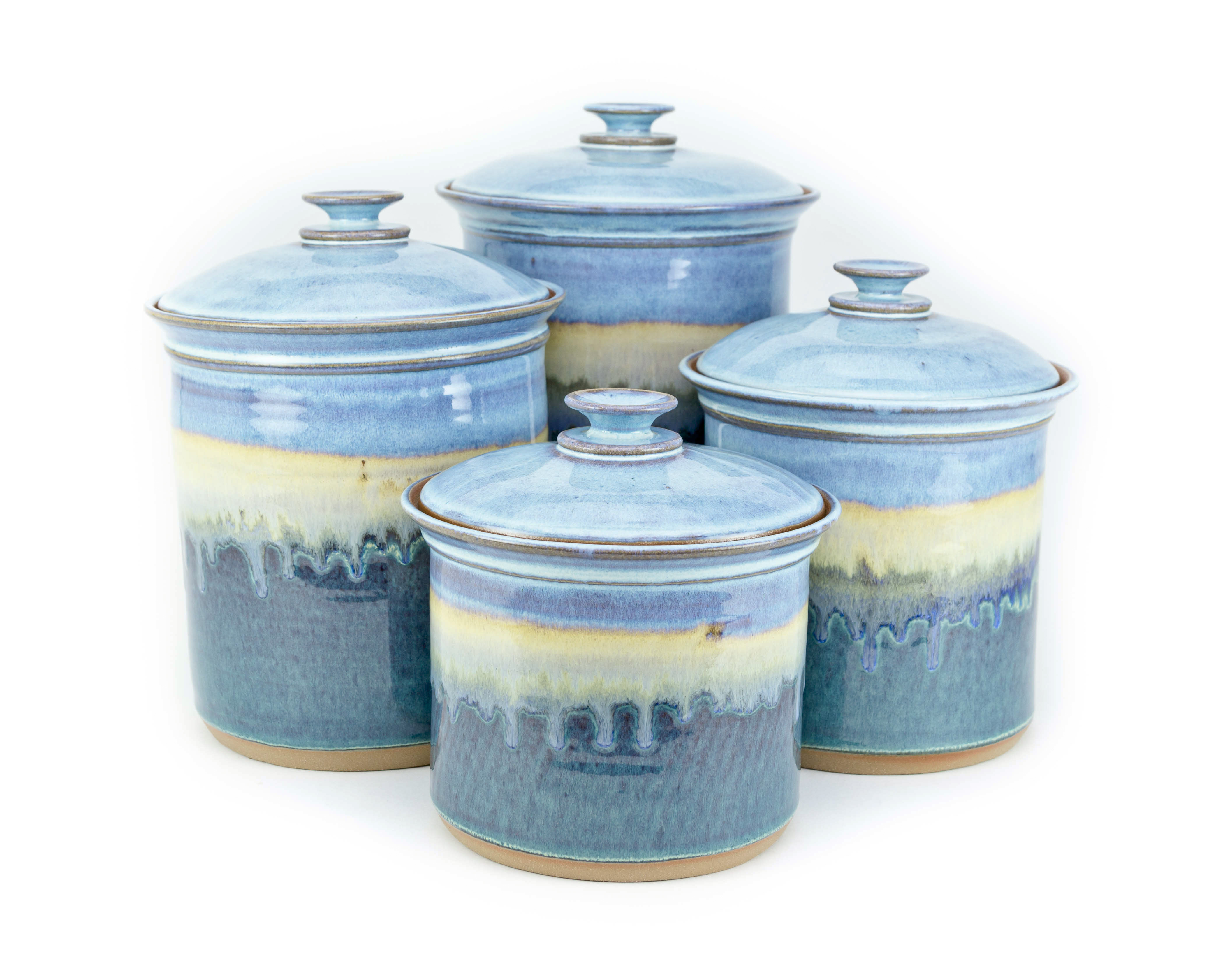 Handmade Pottery Canister Set
