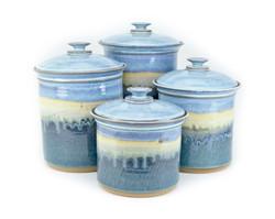 Handmade Pottery Canister Set