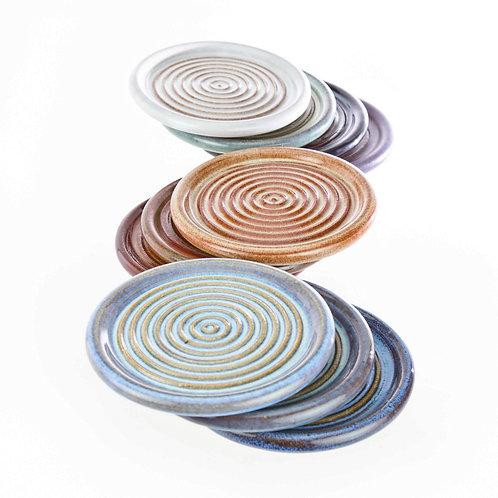 Wheel Thrown Stoneware Coasters