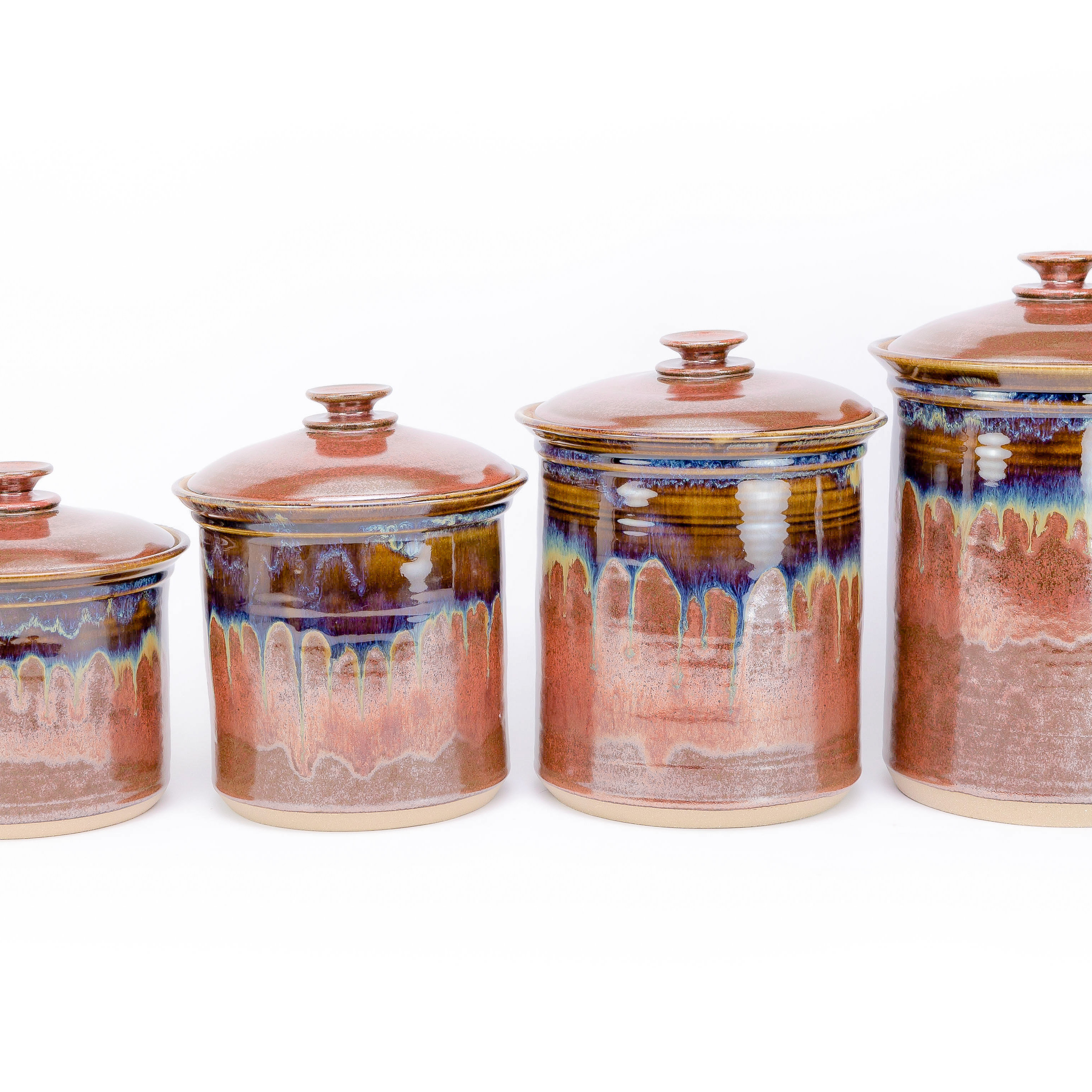 little e pottery canister sets my wheel thrown pottery canisters are designed to be highly functional for frequent use while also adding a beautiful artisan touch to your kitchen