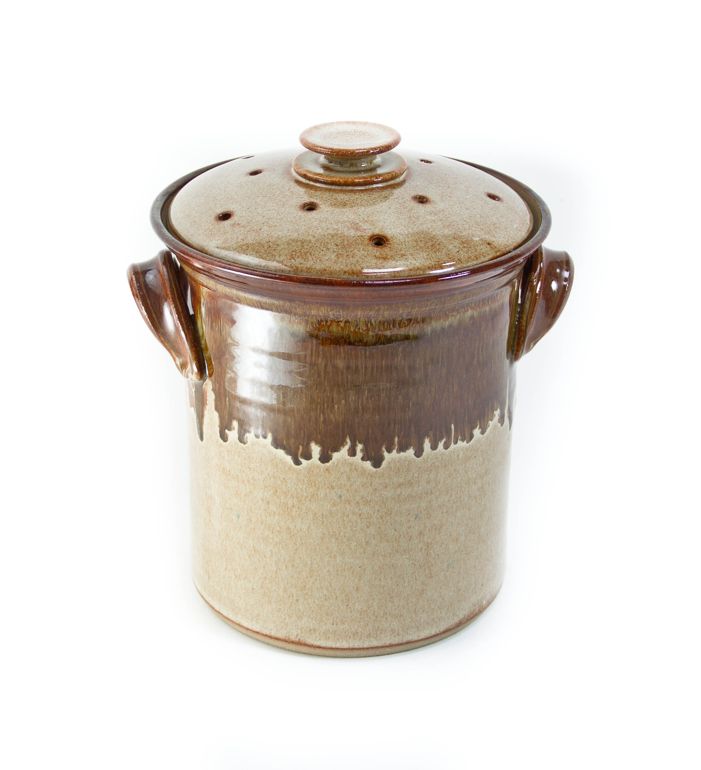 Wheel Thrown Pottery Compost Crock