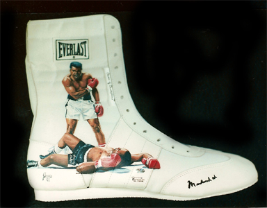 Muhammad Ali painted shoe