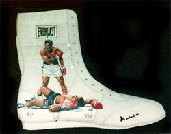 Muhammad Ali painted shoe