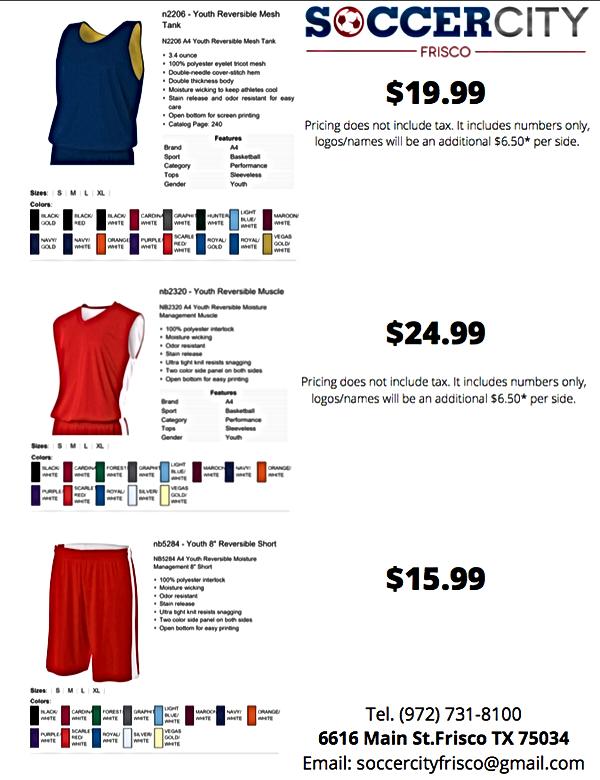 Basketbal Uniform Soccer City