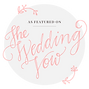 As Featured on The Wedding Vow Badge (1)