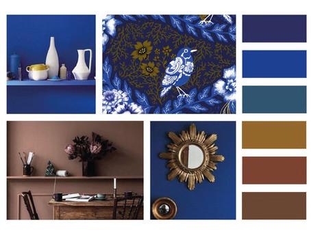 Duo de couleurs bleu & marron
