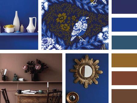 Envie de chaleur et de bien-être dans votre maison, misez sur le mixe bleu et chocolat !