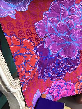 Bloom-Coquelicot-Lin-Coton-Imprime en France-Sur-- Mesure
