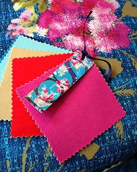 Buedjinn-Textiles-Toile deperlante-Esprit Boheme- Indigo-Magenta-Ameublement