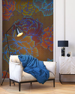 Papier peint de createur -Bloom-Fleurs-G