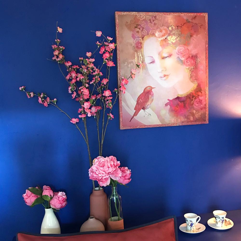 Ambiance-Bleue-Rouge-Atelier-Sonia Daubry-Creatrice-Harmonies-Crecylachapelle