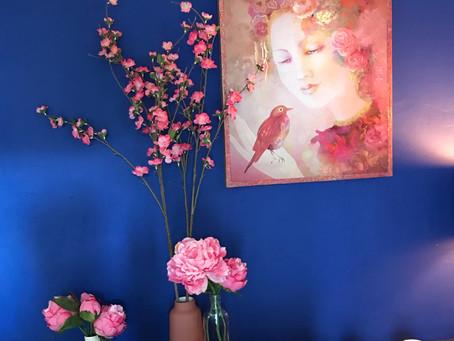 En ce moment à l'Atelier, du rouge & bleu tout en douceur.