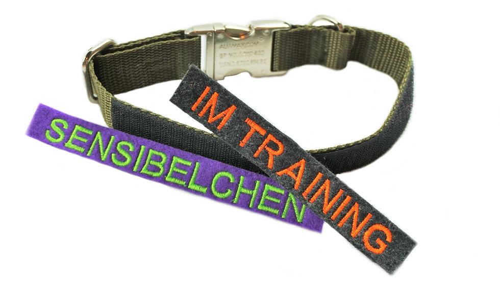 verstellbares Gurtband-Halsband mit Klett